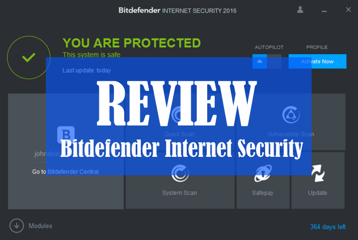 Bitdefender Internet Security is