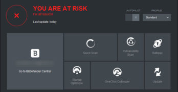 bitdefender real time protection disabled