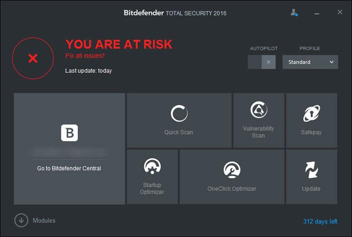 bitdefender real time protection disabled