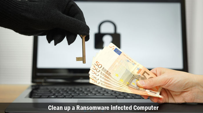 clean up a ransomware infected computer
