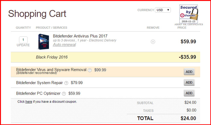 bitdefender antivirus black friday 2016